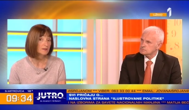 Ljiljana Smajlović, Đorđe Martić (foto: TV Prva, screenshot)
